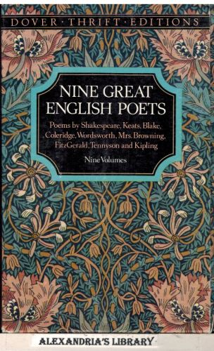 Image for Nine Great English Poets: Poems by Shakespeare, Keats, Blake, Coleridge, Wordsworth, Mrs. Browning, Fitzgerald, Tennyson and Kipling/Boxed Set (Dover Thrift)