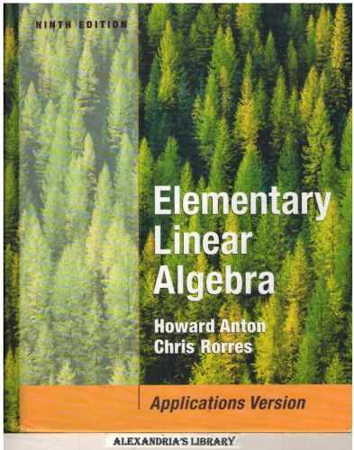 Image for Elementary Linear Algebra with Applications 9e