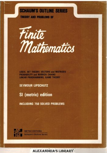 Image for Finite Mathematics Schaum