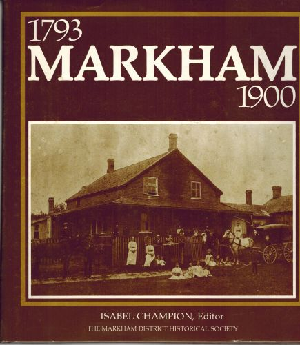 Image for Markham, 1793-1900 - Second Edition