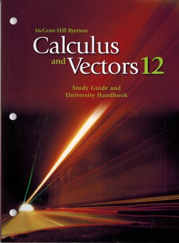 Image for Calculus and Vectors 12 Study Guide and University Handbook