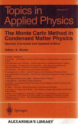 Image for The Monte Carlo Method in Condensed Matter Physics (Topics in Applied Physics)
