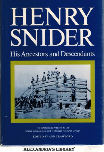 Image for Henry Snider: His Ancestors and Descendants