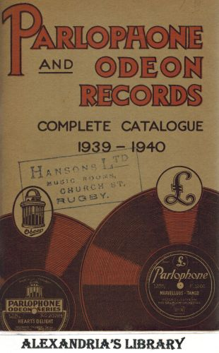 Image for Parlophone and Odeon Records Complete Catalogue 1939-1940