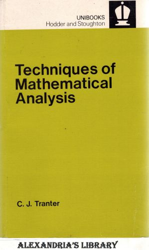 Image for Techniques of Mathematical Analysis (Unibooks)
