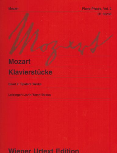 Image for Mozart: Piano Pieces - Volume 2 (Later Works)