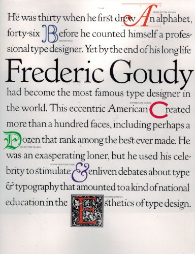 Image for Frederic Goudy (Masters of American Design)