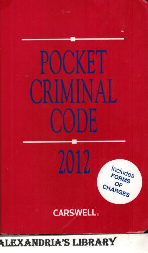 Image for Pocket Criminal Code 2012