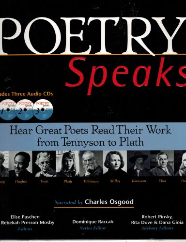 Image for Poetry Speaks: Hear Great Poets Read Their Work from Tennyson to Plath (Book and 3 Audio CDs)