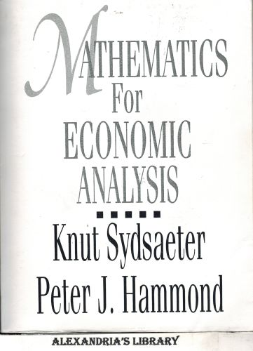 Image for Mathematics for Economic Analysis