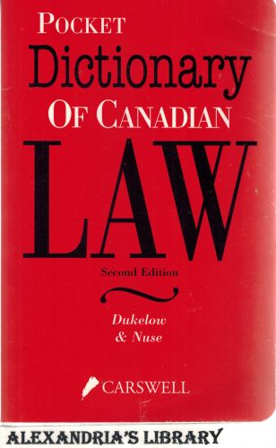 Image for Pocket Dictionary of Canadian Law 2e