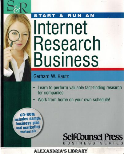 Image for Start & Run an Internet Research Business (Start & Run Business Series)