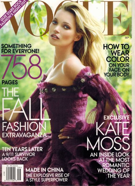 Image for Vogue Magazine September 2011 - Kate Moss Cover